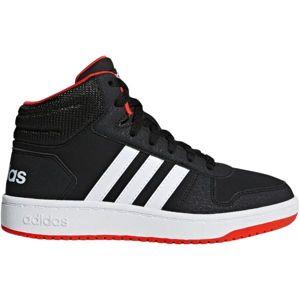adidas HOOPS MID 2.0 K černá 35 - Dětská volnočasová obuv
