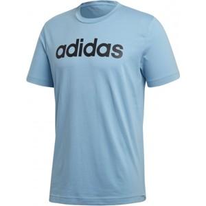 adidas COMMCERCIAL LINEAR TEE modrá M - Pánské triko