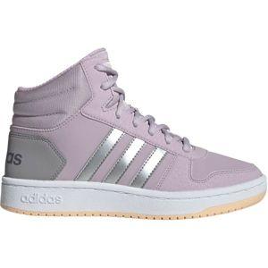adidas HOOPS MID 2.0 K růžová 31 - Dětská volnočasová obuv