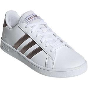 adidas GRAND COURT K bílá 4 - Dětská obuv