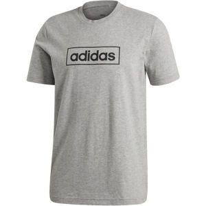 adidas M CORE BOX GRAPHIC TEE 3 šedá XL - Pánské tričko