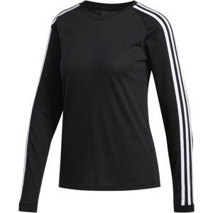 adidas 3 STRIPES LONGSLEEVE černá XS - Dámské sportovní tričko