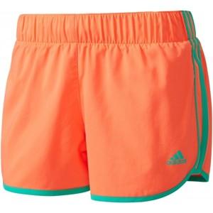adidas SHORT 3S W oranžová XS - Dámské běžecké šortky