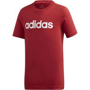 adidas YB E LIN TEE červená 176 - Dětské triko