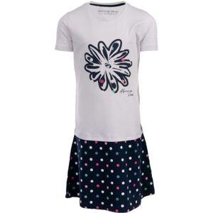 ALPINE PRO THOMASO bílá 140-146 - Dívčí šaty