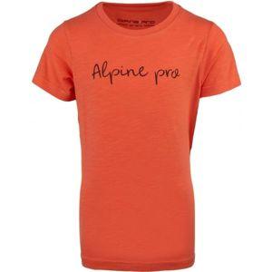 ALPINE PRO SANTOSO růžová 116-122 - Dětské triko