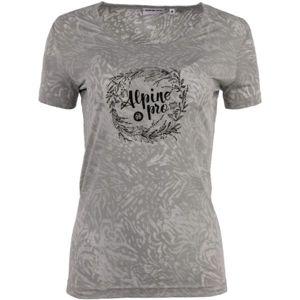 ALPINE PRO ZLOMA 2 šedá XL - Dámské triko