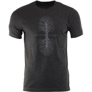 ALPINE PRO SINDR hnědá XL - Pánské tričko