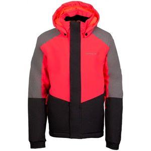 ALPINE PRO RONO růžová 152-158 - Dívčí lyžařská bunda