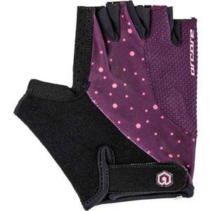 Arcore RIFF fialová L - Krátkoprsté cyklistické rukavice