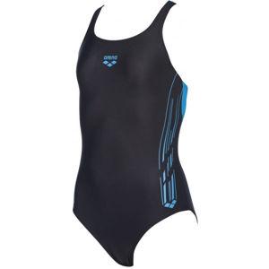 Arena G STAMP JR SWIM PRO BACK ONE PIECE černá 6-7 - Dívčí jednodílné plavky