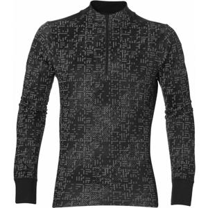 Asics LITE-SHOW 1/2 ZIP černá M - Pánské sportovní triko