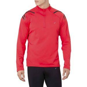 Asics ICON WINTER LS 1/2 ZIP TOP červená L - Pánské sportovní triko