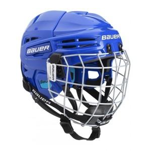 Bauer PRODIGY COMBO YTH modrá (48 - 53,5) - Dětská helma s mřížkou