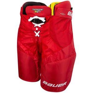 Bauer SUPREME S27 PANTS JR červená L - Hokejové kalhoty