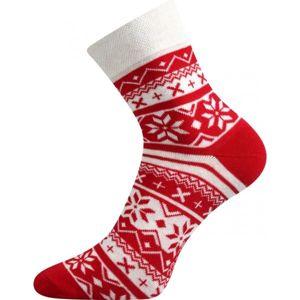 Boma PATTE 025 červená 39/42 - Ponožky se zimním designem