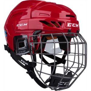 CCM FITLITE 90 COMBO SR červená (54 - 59) - Hokejová helma
