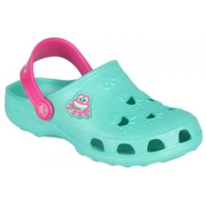 Coqui LITTLE FROG světle zelená 25/26 - Dětské sandály