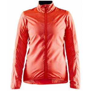 Craft ESSENCE oranžová XL - Dámská ultralehká cyklistická bunda