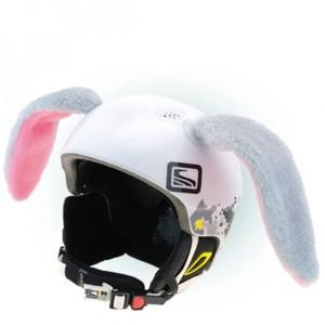 Crazy Ears KRÁLIK VELKÝ šedá NS - Uši na helmu