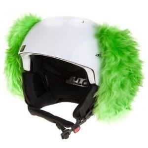 Crazy Ears PES ZELENÝ zelená  - Uši na helmu