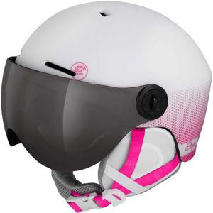 Etape SPEEDY PRO růžová (55 - 56) - Dětská lyžařská přilba s visorem