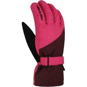 Hannah ROWE růžová L - Dámské lyžařské rukavice
