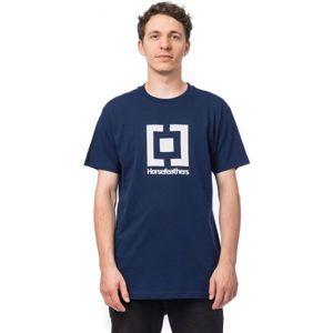 Horsefeathers BASE T-SHIRT modrá XL - Pánské tričko
