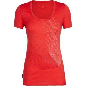 Icebreaker TECH LITE SS SCOOP PLUME WMNS oranžová M - Dámské funkční tričko