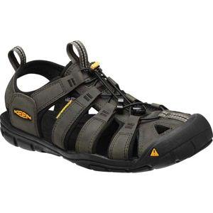 Keen CLEARWATER CNX LEATHER M černá 8 - Pánské volnočasové sandále