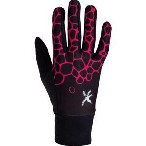 Klimatex LUMI černá S - Dámské strečová prstové rukavice
