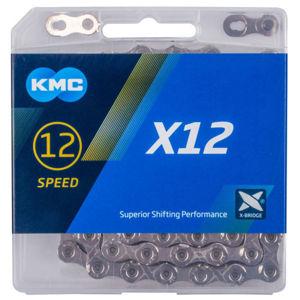 KMC X-12 STŘÍBRNÝ BOX  NS - Řetěz na kolo