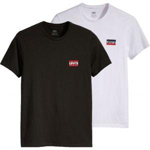 Levi's 2PK CREWNECK GRAPHIC - dvojbalení černá 3XL - Pánská trička - multipack
