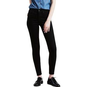 Levi's SHAPING SUPER SKINNY BLACK GALAXY černá 28/30 - Dámské kalhoty
