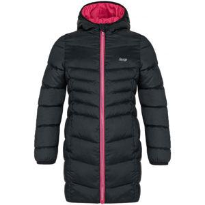 Loap IDUZIE černá 122-128 - Dívčí zimní kabát