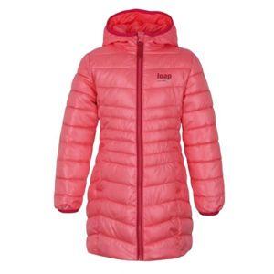Loap IKIMA růžová 122-128 - Dívčí zimní kabát