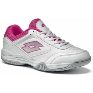 Lotto COURT LOGO XII W růžová 9.5 - Dámská tenisová obuv
