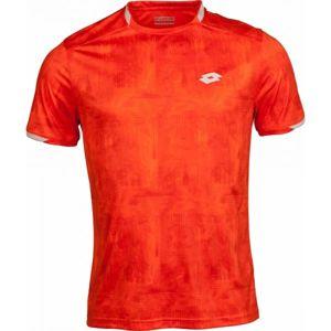 Lotto TOP TEN TEE PRT PL oranžová XXL - Pánské tenisové triko