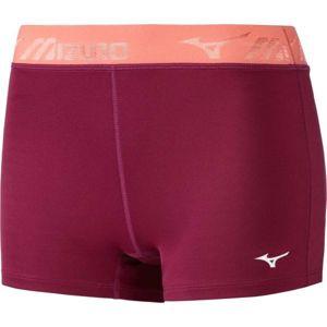 Mizuno IMPULSE SHORT TIGHT W vínová XS - Dámské multisportovní šortky