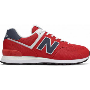 New Balance ML574SCH červená 9 - Pánská volnočasová obuv