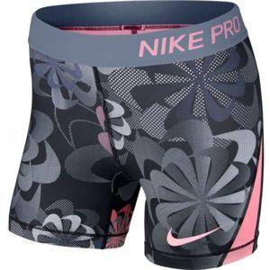 Nike NP SHORT BOY AOP1 G šedá L - Dětské sportovní šortky