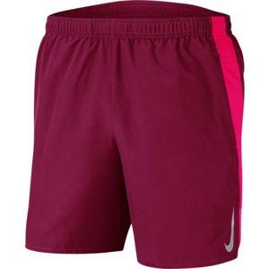 Nike CHLLGR SHORT 7IN BF M červená L - Pánské běžecké kraťasy