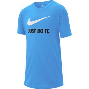 Nike NSW TEE JDI SWOOSH B modrá S - Chlapecké tričko