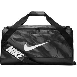 Nike BRASILIA M DUFF - AOP šedá M - Tréninková sportovní taška