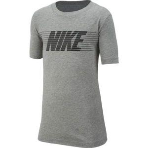 Nike NSW TEE THERMA FLEECE B šedá M - Chlapecké tričko