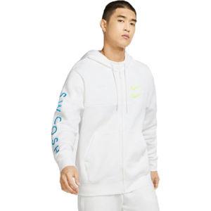 Nike NSW SWOOSH HOODIE FZ SBB M bílá XL - Pánská mikina