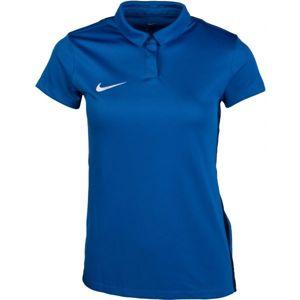 Nike DRY ACADEMY18 POLO modrá S - Dámské sportovní polotriko