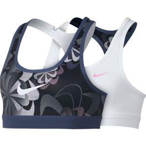 Nike NP BRA CLASSIC REV AOP1 G černá XL - Dětská sportovní podprsenka
