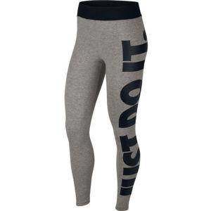 Nike NSW LEGASEE LGGNG HW JSI šedá L - Dámské legíny