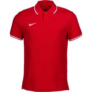 Nike POLO TM CLUB19 SS M zelená XL - Pánské polotričko